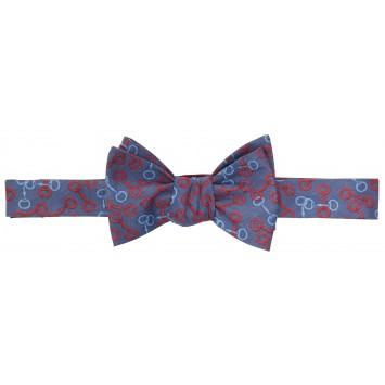 Bit O' Derby Bow: Navy / Red